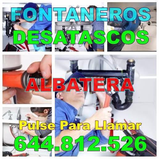 Empresa de Fontaneros Albatera * Desatascos Albatera Baratos Urgentes 24hs