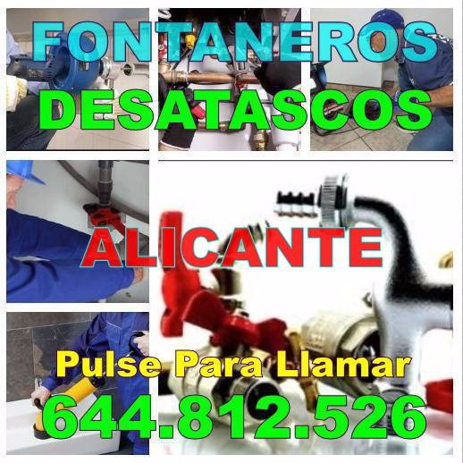 Desatascos Alicante * Fontaneros Alicante Baratos urgentes 24H