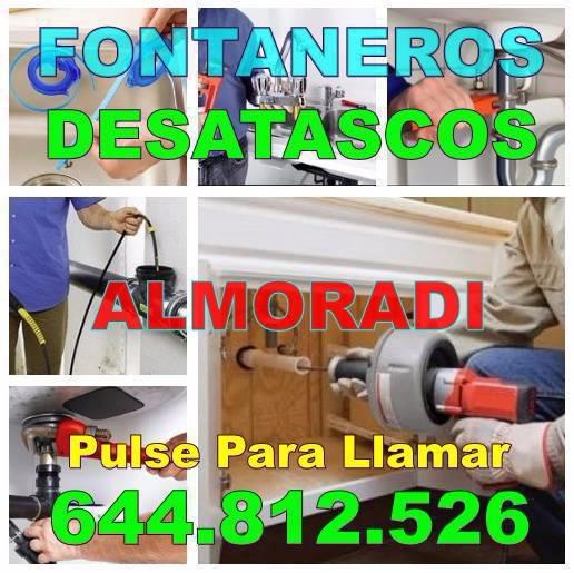 Fontaneros Almoradi - Desatascos Almoradi Baratos urgentes 24h