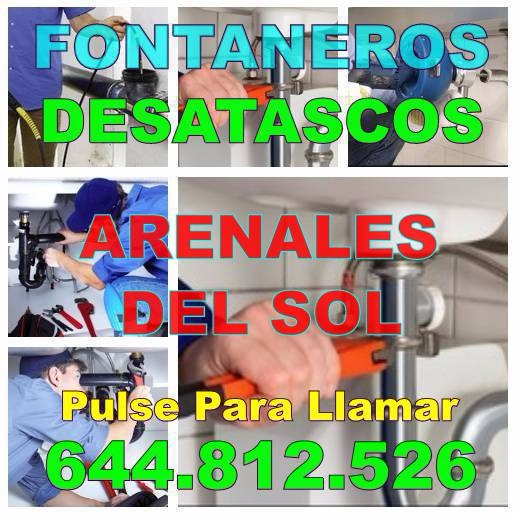 Desatascos Arenales del Sol & Fontaneros Arenales del Sol Economicos de urgencia 24hs