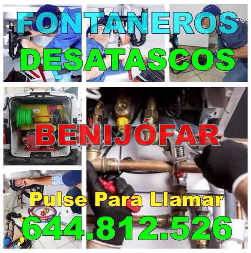 Empresas Fontaneros Benijófar & Desatascos Benijófar baratos de urgencia 24hs