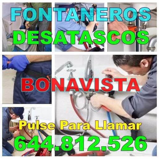 Desatascos Bonavista y Fontaneros Bonavista Baratos urgentes 24Hs