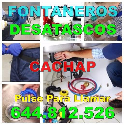 Desatascos Cachap y Fontaneros Cachap Económicos de Urgencia 24H
