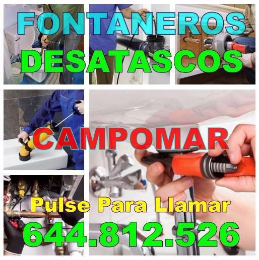 Empresas Fontaneros Campomar * Desatascos Campomar Economicos urgentes 24 horas