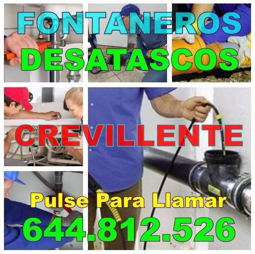 Empresas de Fontaneros Crevillente y Desatascos Crevillente economicos urgentes 24-Horas