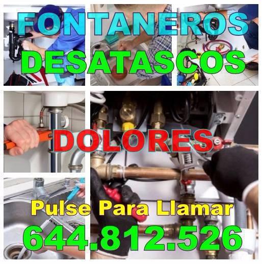 Fontaneros Dolores y Desatascos Dolores baratos de Urgencia 24Hs