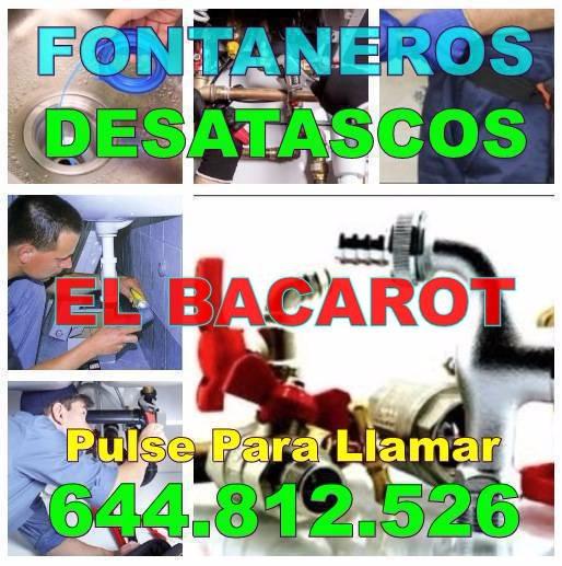 Fontaneros El Bacarot & Desatascos El Bacarot baratos de urgencia 24 Horas