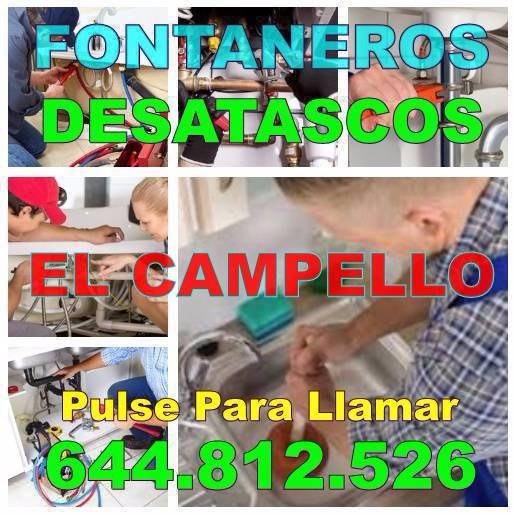 Desatascos El Campello * Fontaneros El Campello economicos urgentes 24h