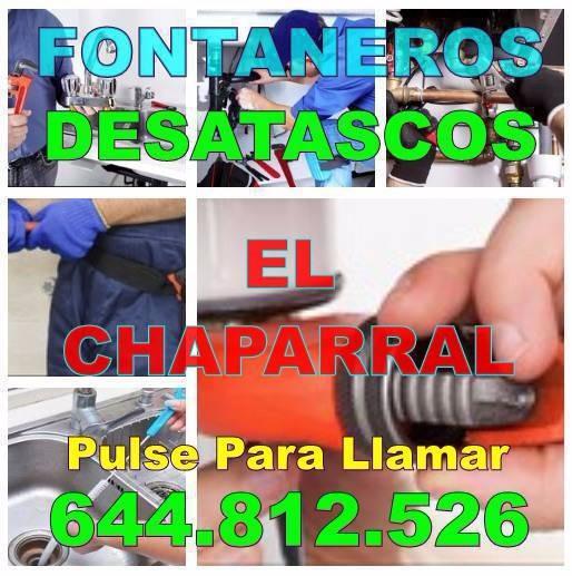 Desatascos El Chaparral - Fontaneros El Chaparral economicos de urgencia 24-Horas