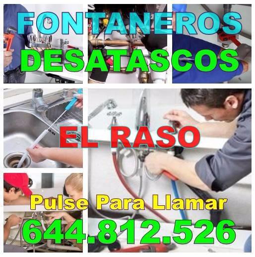 Desatascos El Raso - Fontaneros El Raso economicos Urgentes 24h