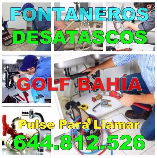 Desatascos Golf Bahía & Fontaneros Golf Bahía económicos urgentes 24-Horas