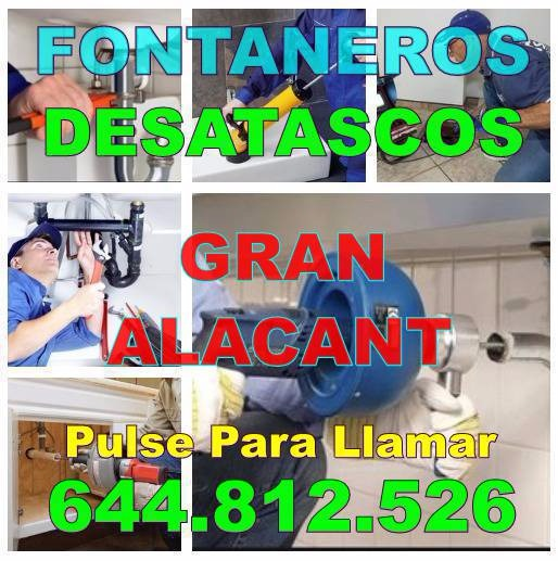 Desatascos Gran Alacant - Fontaneros Gran Alacant económicos de urgencia 24-Horas