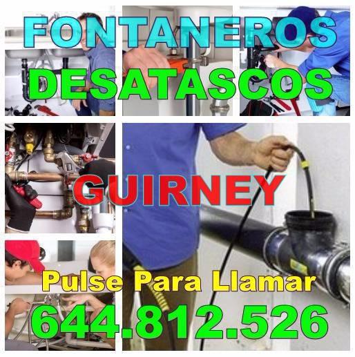 Fontaneros Guirney y Desatascos Guirney baratos de urgencia 24Hs