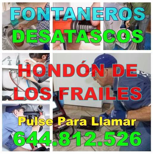 Fontaneros Hondón de los Frailes - Desatascos Hondón de los Frailes economicos de urgencia 24hs