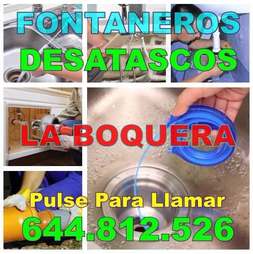 Fontaneros La Boquera - Desatascos La Boquera Baratos urgentes 24hs