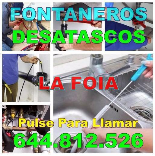 Empresas Desatascos La Foia y Fontaneros La Foia Baratos de urgencia 24Hs
