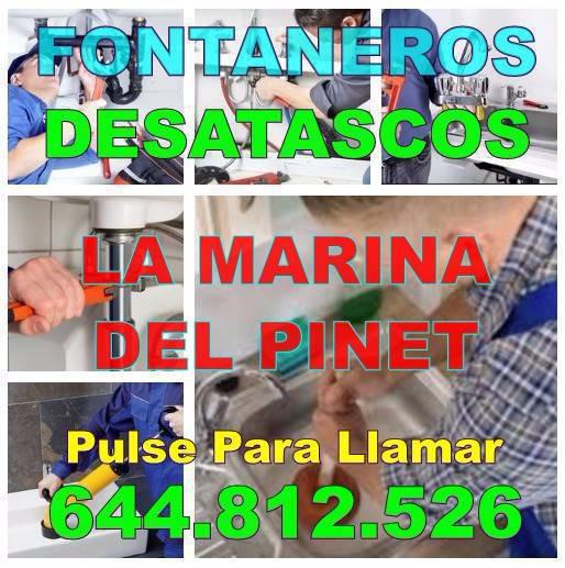 Empresa de Fontaneros La Marina Del Pinet - Desatascos La Marina Del Pinet economicos urgentes 24 horas