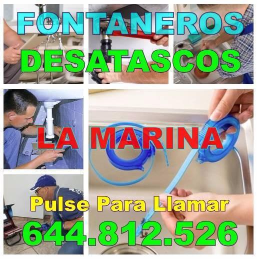 Empresas de Desatascos La Marina & Fontaneros La Marina Baratos de Urgencia 24-horas
