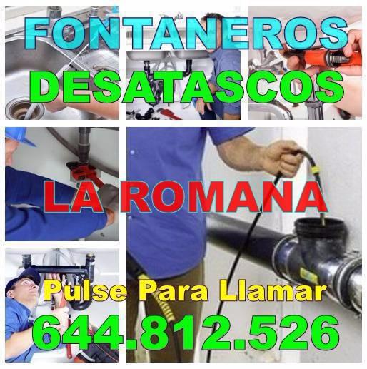 Fontaneros La Romana - Desatascos La Romana baratos de urgencia 24h