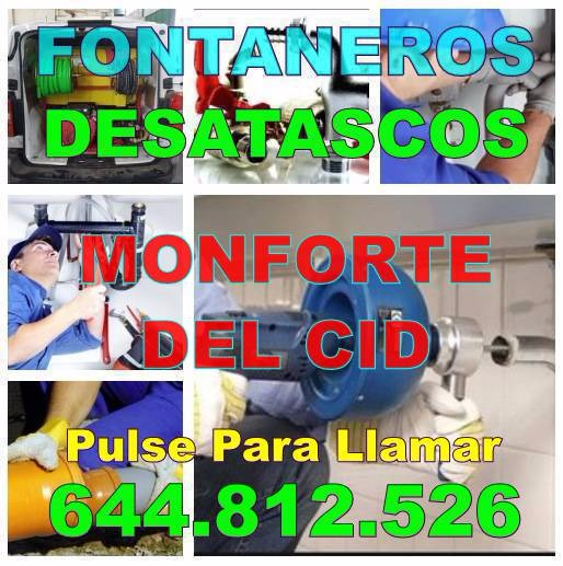 Desatascos Monforte del Cid & Fontaneros Monforte del Cid Económicos urgentes 24Hs