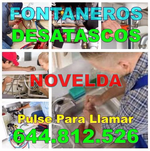 Empresa de Fontaneros Novelda - Desatascos Novelda Baratos de Urgencia 24hs