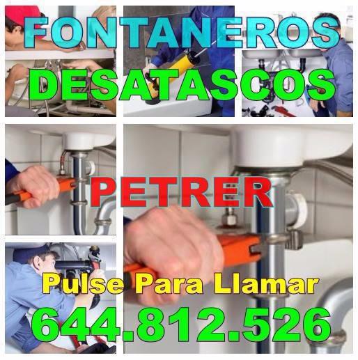Empresas de Desatascos Petrer * Fontaneros Petrer economicos Urgentes 24H