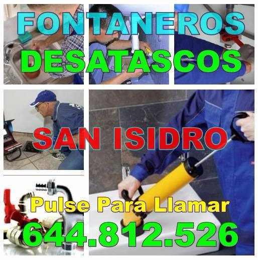 Empresa Desatascos San Isidro & Fontaneros San Isidro Económicos de urgencia 24 horas