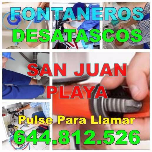 Fontaneros San Juan Playa - Desatascos San Juan Playa Economicos de Urgencia 24Hs