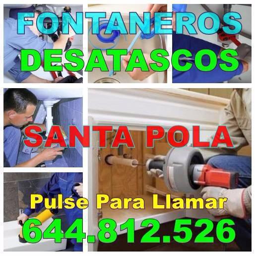 Desatascos Santa Pola & Fontaneros Santa Pola Baratos Urgentes 24-horas