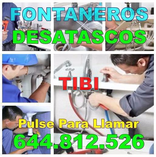 Fontaneros Tibi & Desatascos Tibi baratos de Urgencia 24h