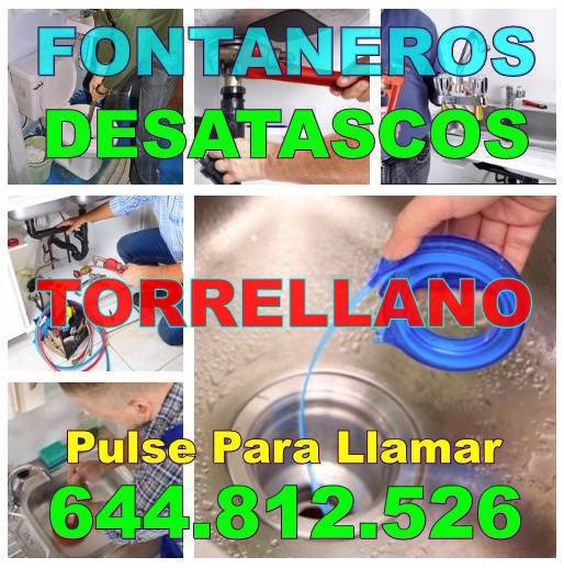 Desatascos Torrellano & Fontaneros Torrellano economicos Urgentes 24-horas