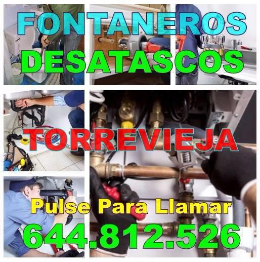 Desatascos Torrevieja * Fontaneros Torrevieja Baratos urgentes 24h